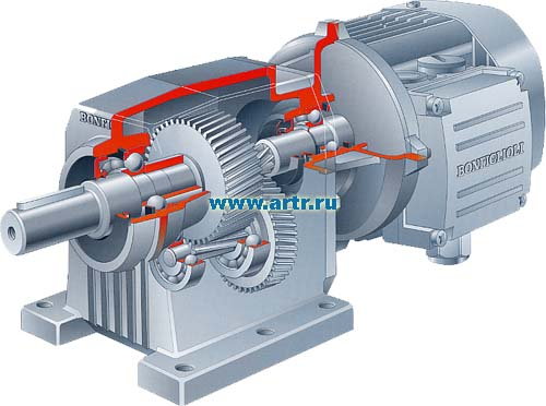 Цилиндрический соосный мотор-редуктор Bonfiglioli С
